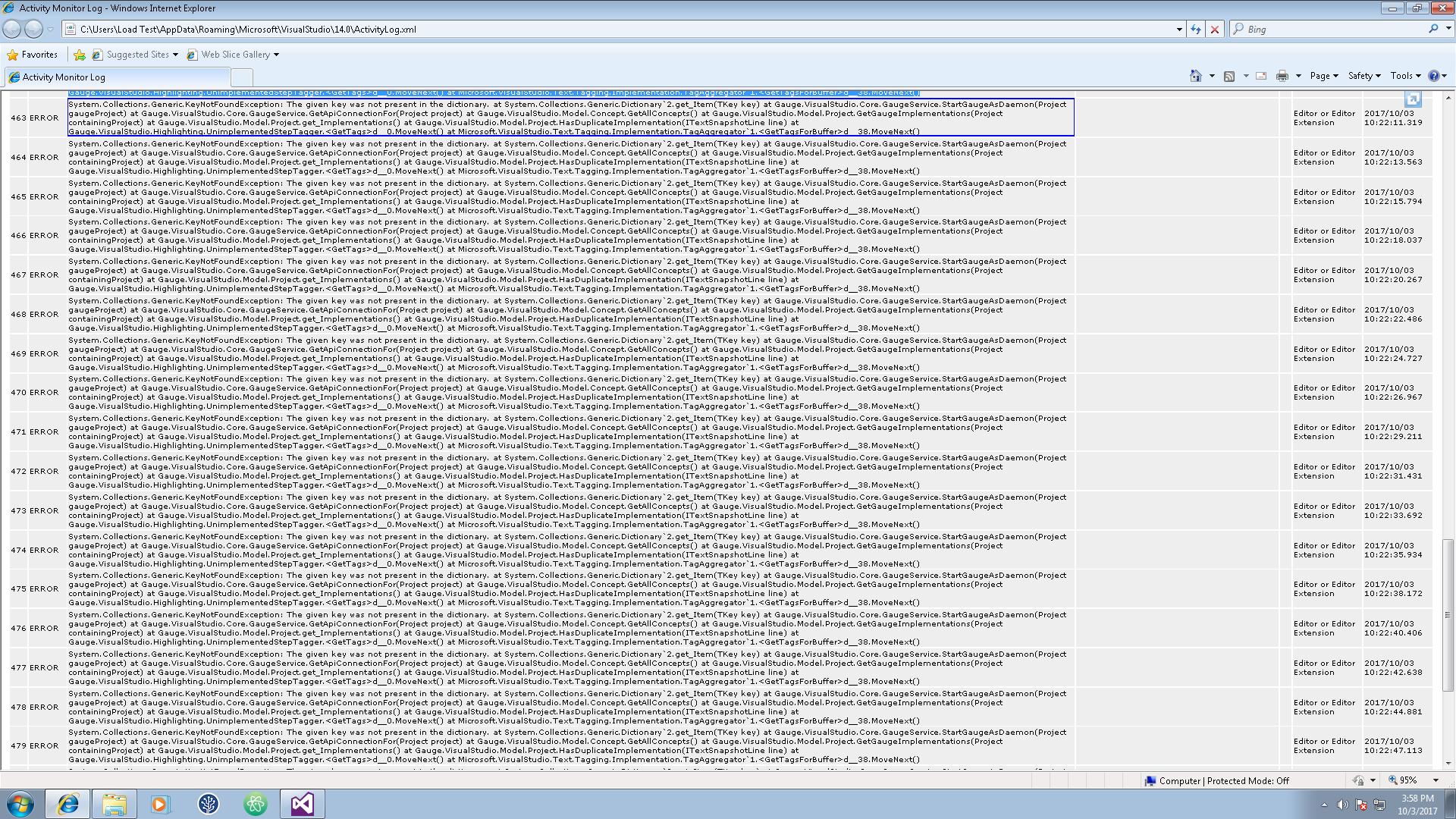 Random issues with Visual Studio 2015 Plugin · Issue #829 ...
